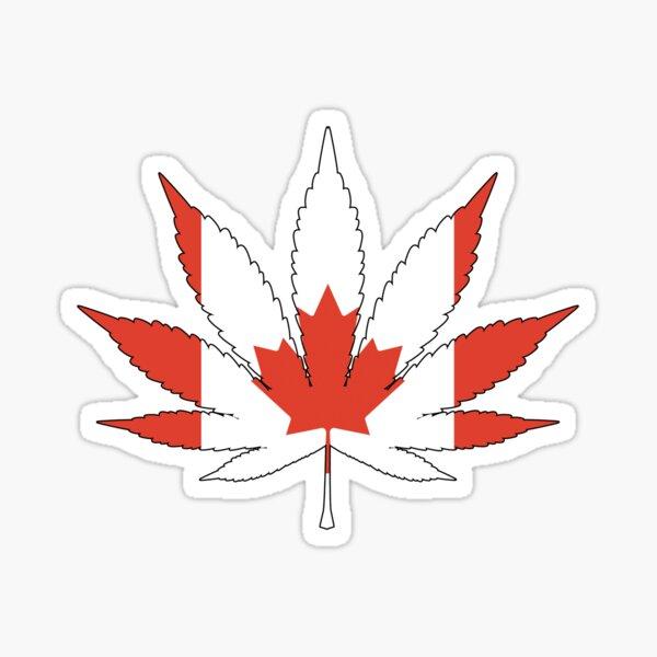 Canadian Cannabis Flag Sticker