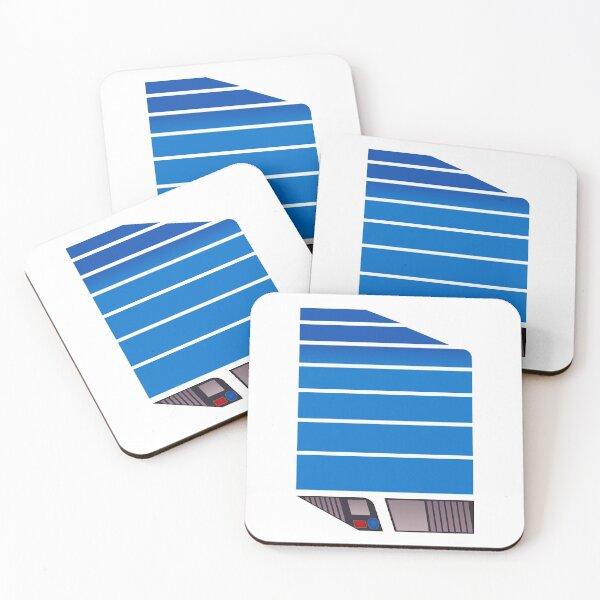 Magnum Futuristic Design (Blue) Coasters (Set of 4)