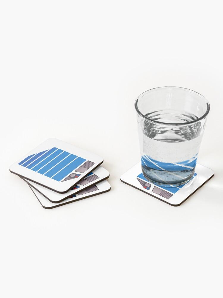 Alternate view of Magnum Futuristic Design (Blue) Coasters (Set of 4)