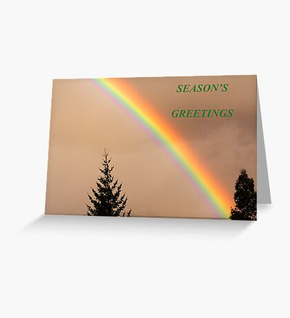All the colours of the rainbow Christmas Card Greeting Card