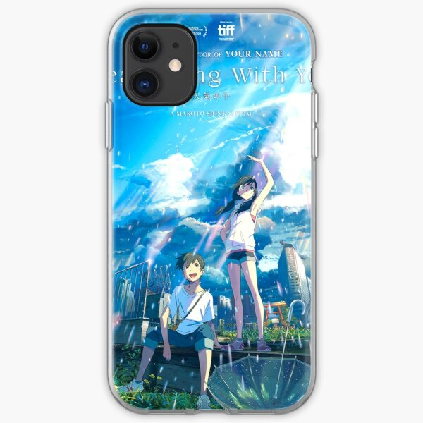 Weathering With You Poster Tenki No Ko Anime Poster Iphone Case Cover By Coolhiphoptees Redbubble