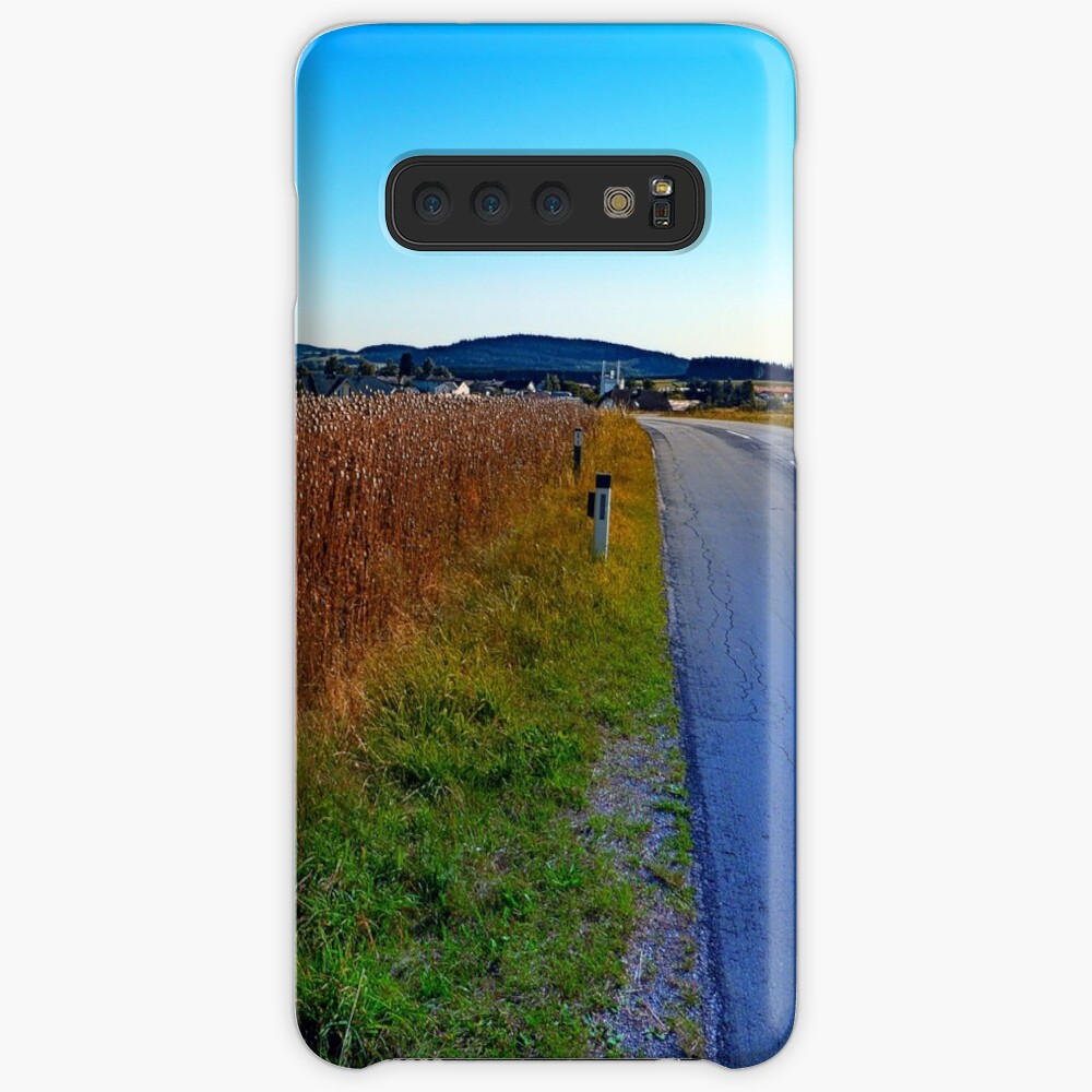 Poppy field road Cases & Skins for Samsung Galaxy