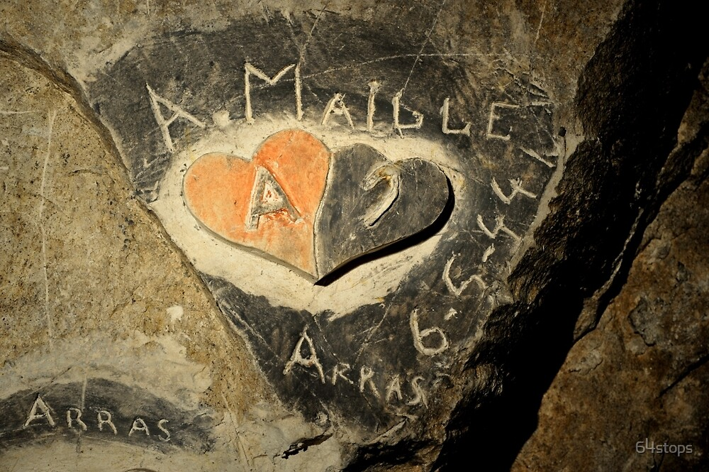 ww2 grafitti hearts underground by 64stops
