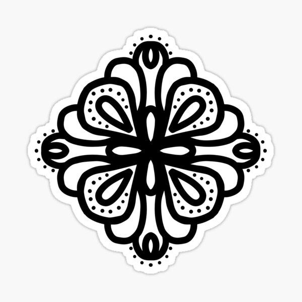 four corners Sticker