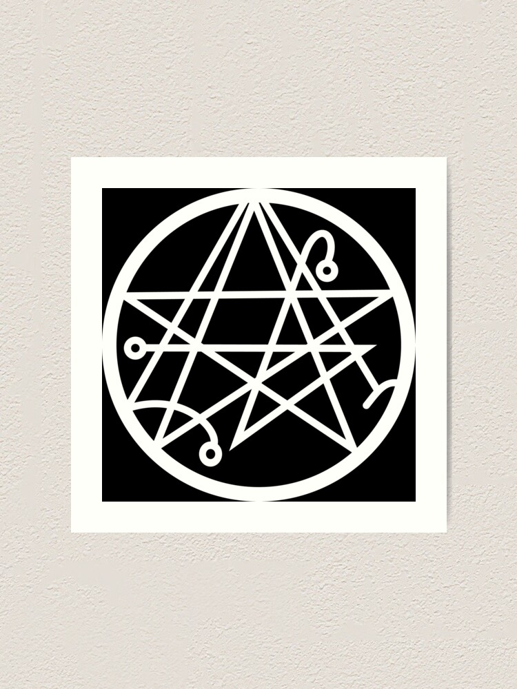 Necronomicon Sigil Of The Gateway Occult Symbol Cthulhu Art Print By Argosdesigns Redbubble Cthulhu is a fictional cosmic entity created by writer h. redbubble