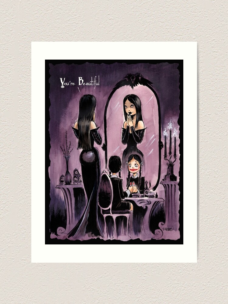 Alternate view of YOU'RE BEAUTIFUL -- For All My Little Goth Girls Art Print