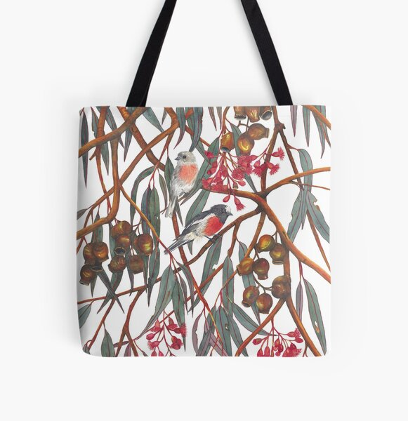 Scarlet Robins All Over Print Tote Bag