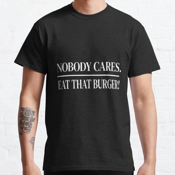 Work Out Eat Burgers Mens T Shirt