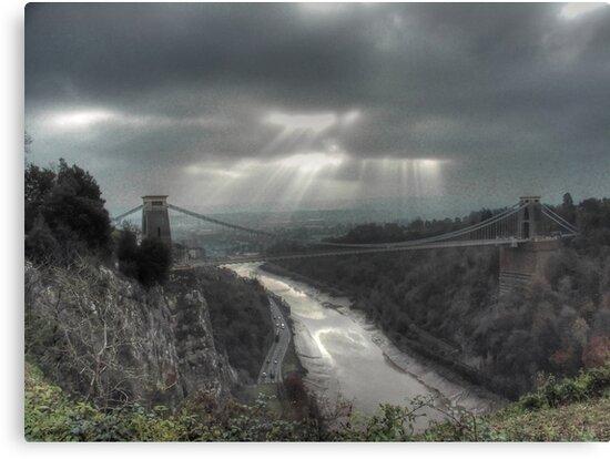November Sunbeams over Clifton Suspension Bridge, Bristol. by Clive Lewis-Hopkins.