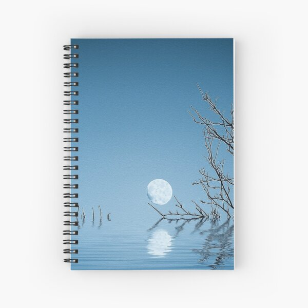 A Blue Moon on the Water Spiral Notebook