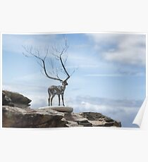 Sculptures by the Sea - The Deer Poster