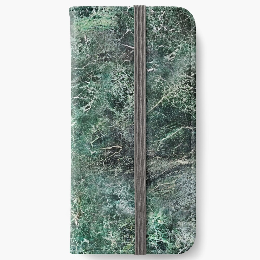 Emerald green marble photographic pattern iPhone Wallet