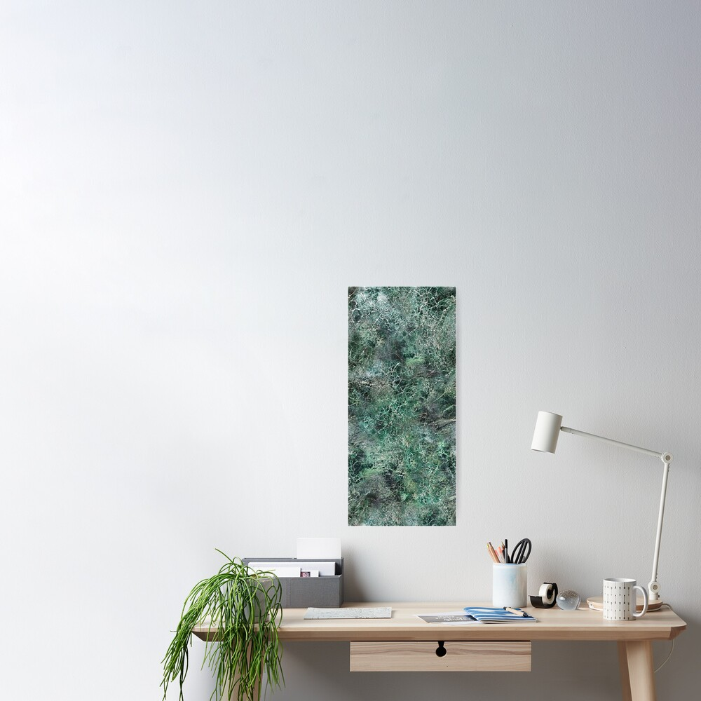 Emerald green marble photographic pattern Poster