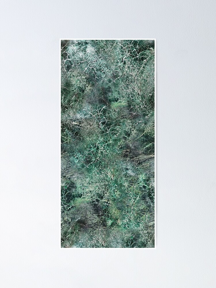 Alternate view of Emerald green marble photographic pattern Poster