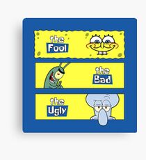 The Fool, The Bad and The Ugly Canvas Print