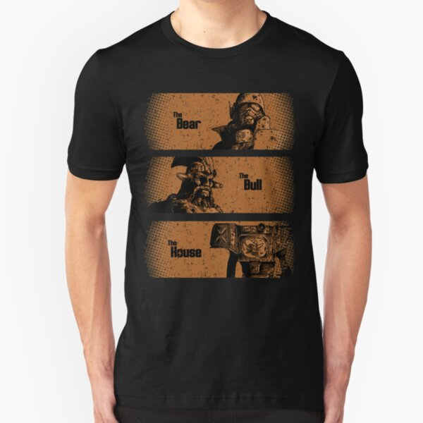The Bear, The Bull, The House Slim Fit T-Shirt