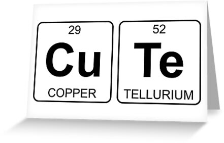 Cu te cute periodic table chemistry greeting cards by jenny cu te cute periodic table chemistry by jenny zhang urtaz Image collections