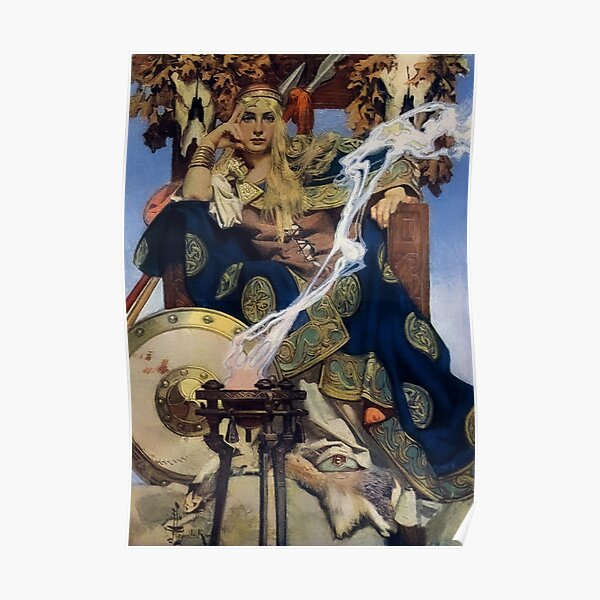Queen Maeve, Joseph Christian Leyendecker (1907) Poster
