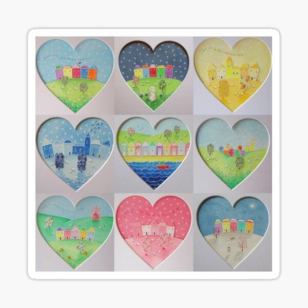 Hearts - countryside and coastal scenes Sticker