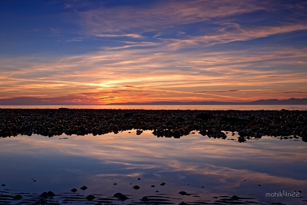 Sunset over Arran by mohik4n22