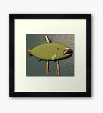 Key chain fish # 11 (SOLD) Framed Print