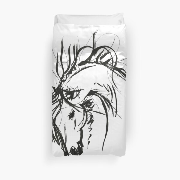 Sketch to spring mood Duvet Cover