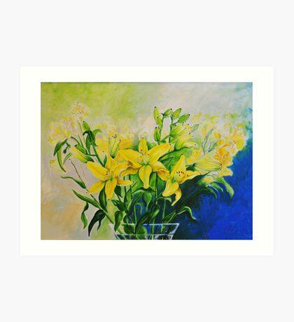 Dorothy's Yellow Lily  Art Print