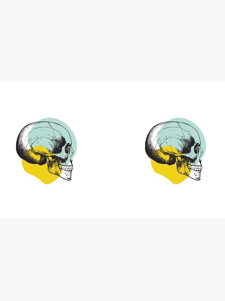 Skull Pastel Blue & Yellow • Pastel Goth  by rike-mayer