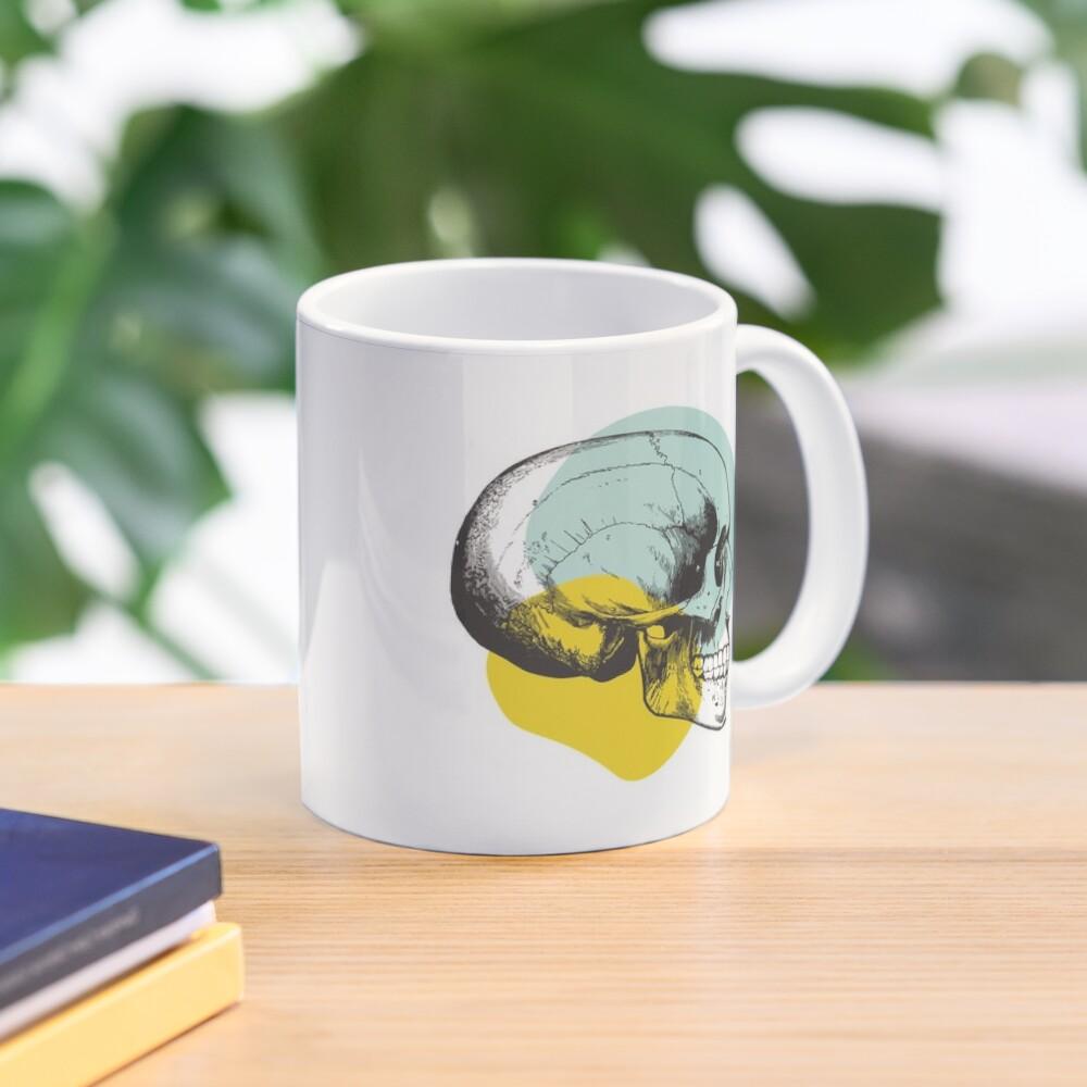Skull Pastel Blue & Yellow • Pastel Goth  Mug