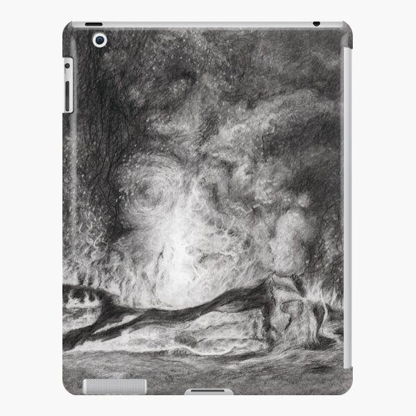 Camp fire in the night iPad Snap Case