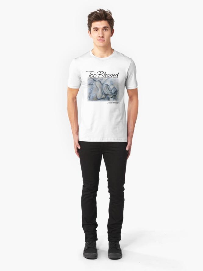 Alternate view of Buddha Blessing Slim Fit T-Shirt