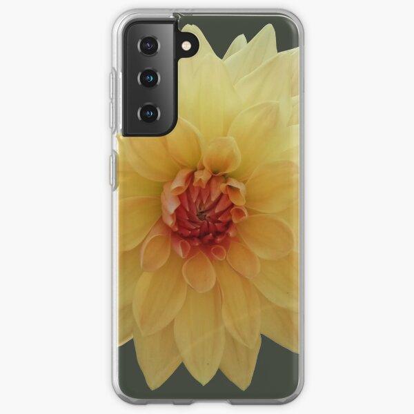 Dahlia jaune Coque souple Samsung Galaxy
