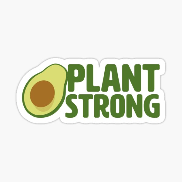 Plant Strong Vegan Sticker