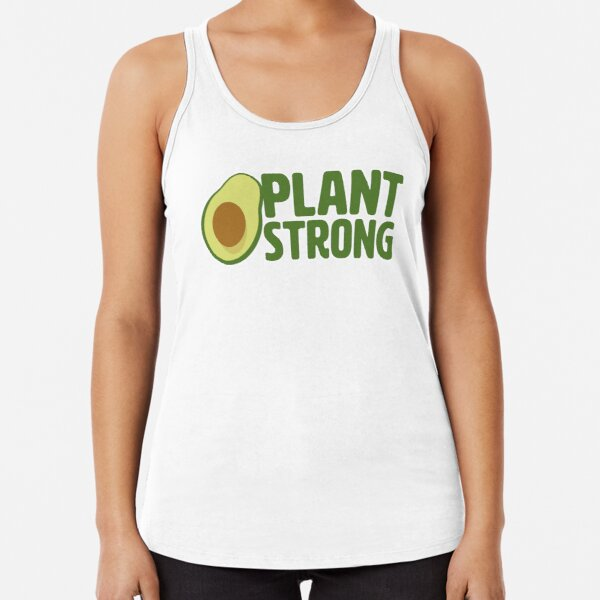 Plant Strong Vegan Racerback Tank Top