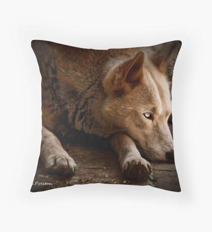 Thinking again  Throw Pillow