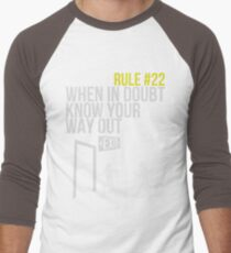 Zombie Survival Guide - Rule #22 - When In Doubt, Know Your Way Out Men's Baseball ¾ T-Shirt