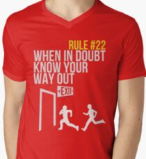 Zombie Survival Guide - Rule #22 - When In Doubt, Know Your Way Out Mens V-Neck T-Shirt