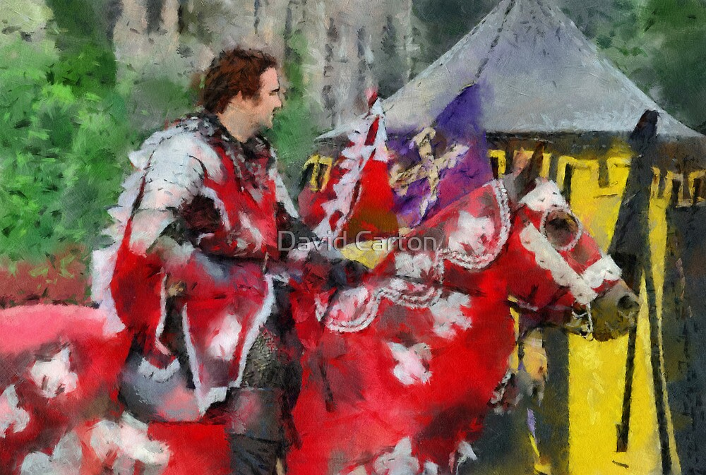 The Red knight, Joust 2006 at Berkeley Castle in Gloucestershire by David Carton