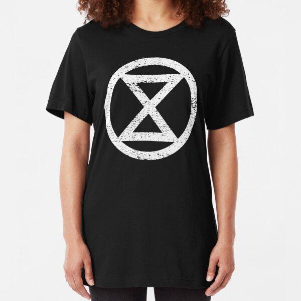 Extinction Rebellion (distressed) Slim Fit T-Shirt