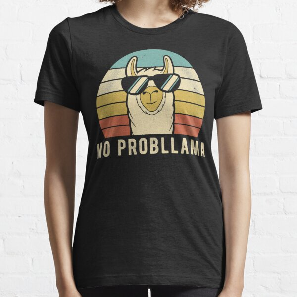 No Prob Llama - Funny Retro Llama Essential T-Shirt