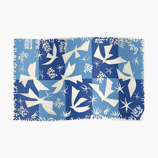 Matisse, Polynesia, the sky (Polynésie, le ciel) 1946 Cut Out Reproduction Poster