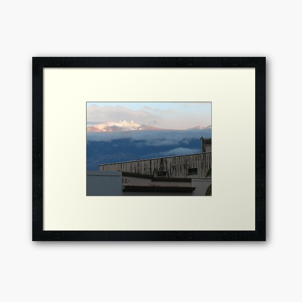 Old Buildings and New Snow Framed Art Print