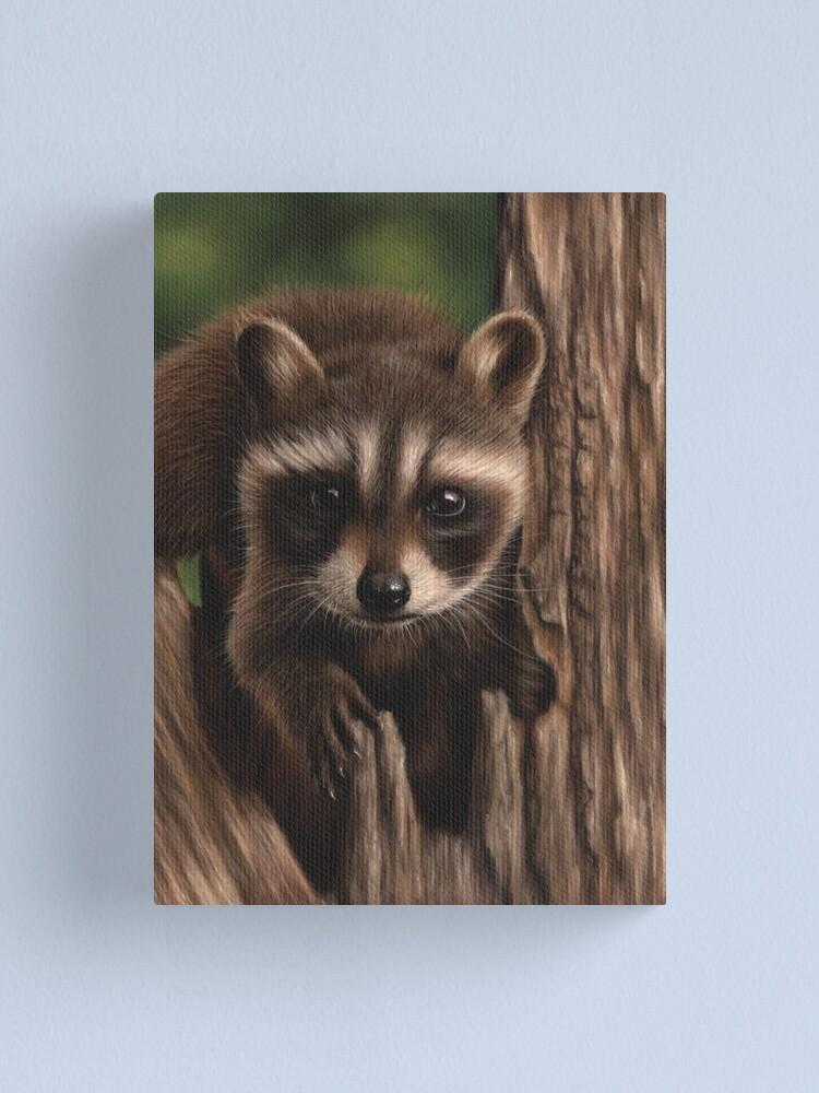 Alternate view of Raccoon portrait Canvas Print