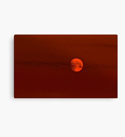 Red Lunar Night Canvas Print