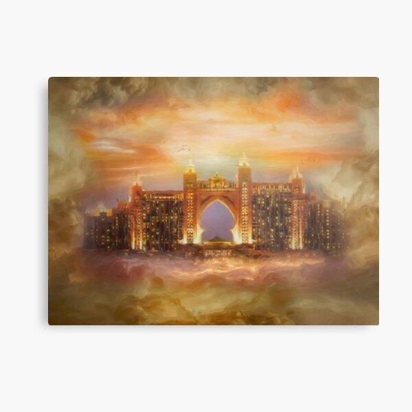 Dream Hotel in the clouds Metallbild