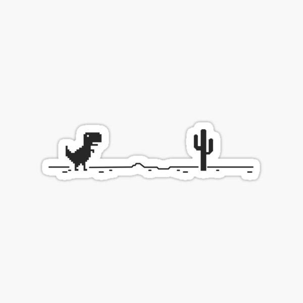 Trex Cactus Offline Sticker