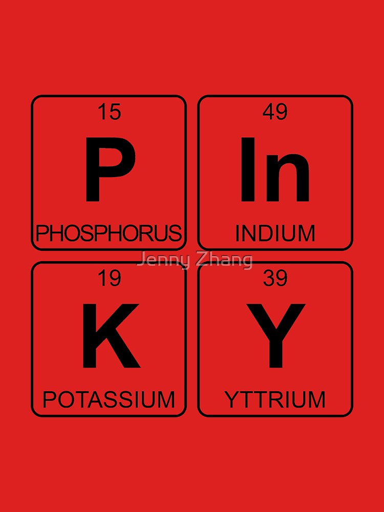 P In K Y Pinky Periodic Table Chemistry Unisex T Shirt By