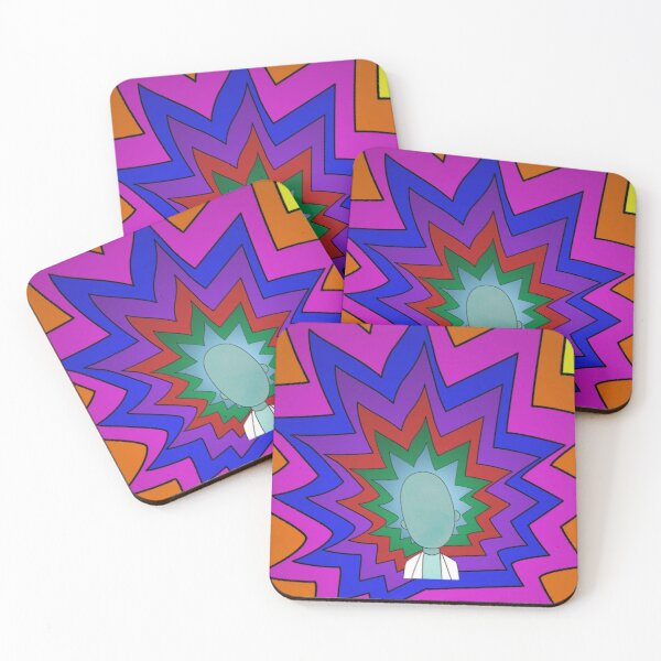 Rick flashy hair Coasters (Set of 4)