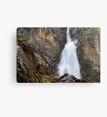 Alpine Waterfall Canvas Print