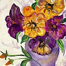 Yellow and Purple Flowers by hickerson